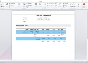 The daily job time report